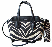 Coach Zebra Mini Tote # F28461 & Zebra Print Mini Umbrella #F67852