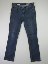 C-081 LADIES MID RISE REG FIT STRAIGHT JAG STRETCH DENIM JEANS SZE 10 EX-COND