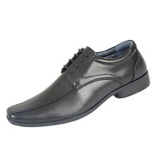Mens Charles Southwell Smart Fashion Formal Lace Up Work Black Shoes Len