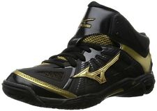 MIZUNO Unisex Basketball shoes WAVE REAL BB7 W1GA1600 Black X gold