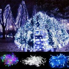 100 LED 10M Fairy String Lights Christmas Tree Lamp Party Wedding Decor Colorful