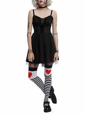 Hot Topic Black Corset Tulle Dress Lace Trim Costume Cosplay Dress-Up Party JR M
