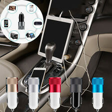 Dual Port USB Adapter Car Charger Power 2.1A+1A for iPhone 6S iPod iPad GPS