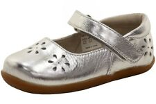 See Kai Run Toddler Girl's Ginger II Fashion Silver Mary Janes Shoes