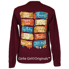 "Girlie Girl Originals ""Fall Board"" Long Sleeve Maroon Unisex Fit T-Shirt"