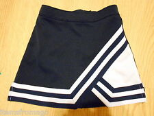 """Youth Small Navy & White Chasse' Cheerleading UNIFORM Panel A-Line SKIRT 21-22"""""""