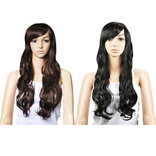Top Quality Synthetic Hair Gorgeous Ladies Long Wavy Curly Full Wig  FK