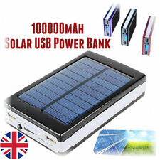 100000mAh Solar Power Bank External Battery Pack Charger For Mobiles iPhone iPad