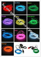 Sound Activated 2m LED EL Light Glow Wire String Strip Tube  Dance Party Control