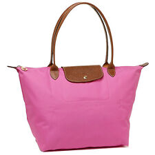 Longchamp 1899 Le Pliage Shopping Tote Bag Pink Large Medium Authentic New!