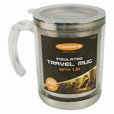 450ML Travel Mug Insulated Stainless Steel Thermos Coffee Tea Cup