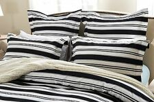 5pc Black and White Striped Duvet Cover Set Style