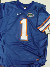 NEW Youth Kids NIKE Univ of FLORIDA GATORS Blue NCAA Stitched #1 Football Jersey