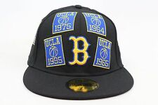 UCLA Bruins Black / Yellow Blue Championship Banners New Era 59Fifty Fitted Hat