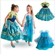 Frozen Fever  Birthday Party Anna Party Skirt Princess Cosplay Sunflower Dress