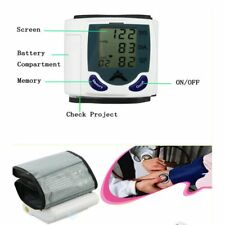 Digital LCD Wrist Blood Pressure Monitor Heart Beat Rate Meter Measure Machine F