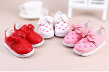 Toddler Baby Girls Shoes Pumps Casual Soft sole Walk Loafers Boots Infant Size
