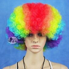 Country Football Fans Afro Wig Fancy Costume Celebration Mutil-colored GDTF-9