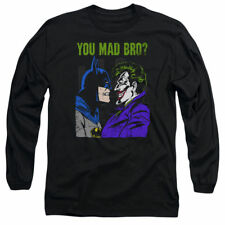 T-Shirts Sizes S-2XL New Mens DC Comics U Mad Bro? Long Sleeve Tee Shirt