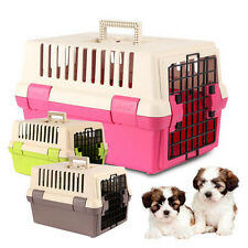 Pet Carrier Kennel Air Travel Hard Plastic Crate Portable Transport Cage Dog Cat