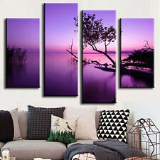 4 Pcs Frameless Canvas Painting Pictures Freehand Living Room Art Decor Sweet