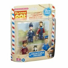 Postman Pat Set Of 5 Mini Collectable Toy Figures Pat Jess PC Selby Ted Ajay NEW