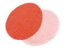 2 Pcs Iron mend Checked Oval ca. 11 x 14 cm Repair patch Iron on NEW