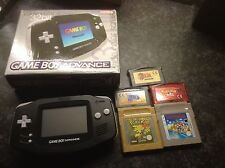Nintendo Game Boy Advance Black  Handheld System with 5 top  games please read