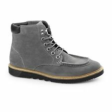 Kickers KWAMIE BOOT Mens Suede Leather Casual Comfy Classic Moccasin Boots Grey