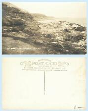East Shore Line Pemaquid Point Maine Coast RPPC Real Photo Postcard