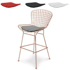 Wire Counter Stool Wireback Mid Century Modern Mesh Kitchen Stool Rose Gold