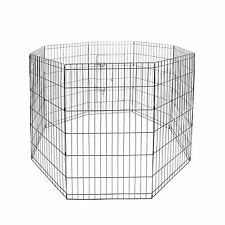 Animal Pet Dog Cat Folding Play Pen Exercise Cages Crates Fence 30/36/42/48 Tall