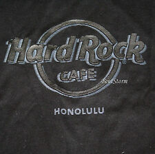 HARD ROCK CAFE HONOLULU HAWAII BLACK T-SHIRT TEE Raised LOGO Men's SZ S-3X
