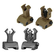 1 Pair Flip up Front-Rear Iron Sight Set Dual Diamond Shape BUIS For 20mm Mount