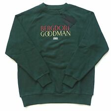 NWT Kith Bergdorf Goodman Ronnie Feig Green Embroidered Logo Sweatshirt S M AUTH