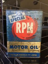 Caltex RPM 1 Gallon Motor Oil Tin Vintage