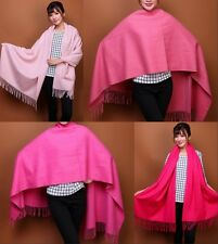 100% Wool Women's Pashmina Scarf Shawls Scarves Thick Solids Stole Wraps New