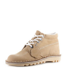 Womens Kickers Kick Hi Core Tan Natural Nat Leather Lace Up Ankle Boots Uk Size