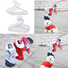 3 Pcs / 5 Pcs Pure Pearl White Hangers Dog Pet Car Clothing Hangers Wire ABS