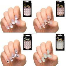 24pcs Stunning Designs French Acrylic Fake False Full Nail Art Tips Nail Beauty