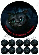Cheshire cat Large Cake Topper Edible Icing Paper Birthday Personalised PARTY