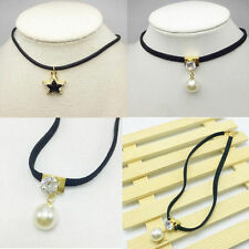 Waves Elegant New Necklace Fashion Clavicle Choker lace Short Chain Pearl