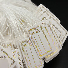 Strung String Tags Swing Price Jewelry Clothing Tie On Paper Labels   ST