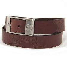 Notre Dame Fighting Irish Branded Brown Leather Belt