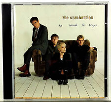 The Cranberries No Need to Argue 1994 Island CD The Cranberries