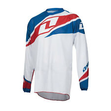 ONE INDUSTRIES ATOM VENTED WHITE MOTOCROSS MX MTB BIKE CYCLING JERSEY