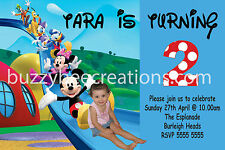 Mickey Mouse Clubhouse Personalised Photo Birthday Invite DIY Printing