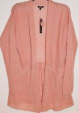 Apt 9 Womens Rose Dawn Open Front Fly Away Lightweight Sweater Cover L Large