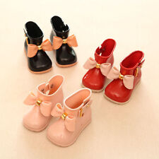 Cute Toddler Baby Girls Bowknot Flats Shoes Candy Color Jelly Casual Rain Boots