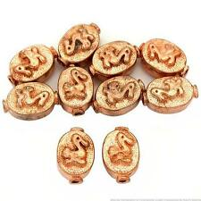 15g Fluted Oval Duck Beads Copper Plt 11.5mm Approx 10